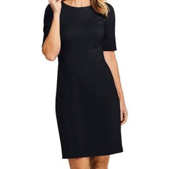 Long Sleeve Lands End Ponte Knit Dress Plus Size